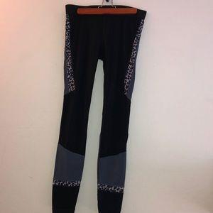 Gap Fit Yoga pants with leopard print